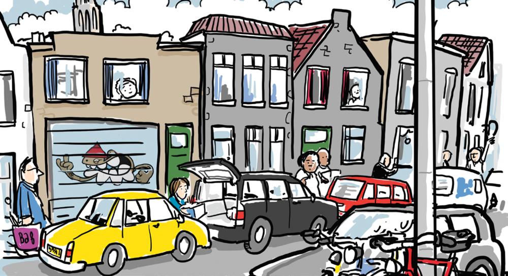 Voorkom chaos: parkeer in de parkeervakken