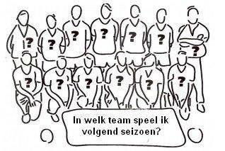 Voorlopige teamindeling seizoen 2021/2022